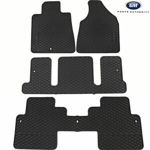 07-17 GMC Acadia Premium All Weather Mat Package w/ Captains Chair Ebony OEM