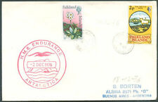 FALKLAND ISLANDS TO ARGENTINA HMS ENDURANCE SHIP Cancel on Cover 1976 VF