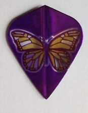 Amerithon Dart Flights-  Purple & Gold Butterfly 5 Kite Shaped Sets