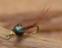 12 Flies Tungsten Flash Back Pheasant Tail Mayfly Nymph Flies Mustad Signature