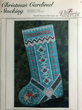 The Victoria Sampler- Christmas Cardinal Stocking Chart & Accessory packs