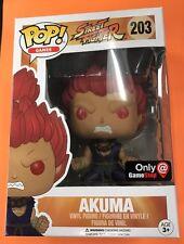 Funko Pop street fighter akuma GameStop exclusive Great Box In Hand
