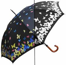 """Lot of 12 - 46"""" Color Changing Butterfly, Auto Umbrella -RainStoppers Rain/Sun"""