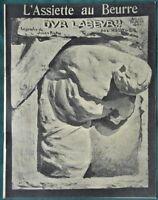 """L'Assiette au Beurre #132 """"Hard Labor"""" 1903 French Satire Bernhard Hoetger Art"""