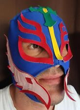 Lucha Libre Mexican Wrestling Mask Costume Luchador Nacho Libre Style Blue Red