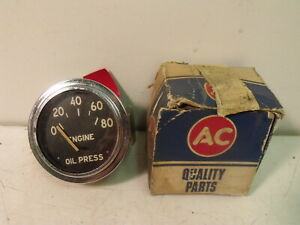 Vintage NOS AC Delco 5653121 Engine Oil Pressure Gauge
