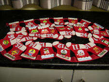 HANDMADE BUNTING ADVENT CALENDAR XMAS STOCKING RED FELT NEW