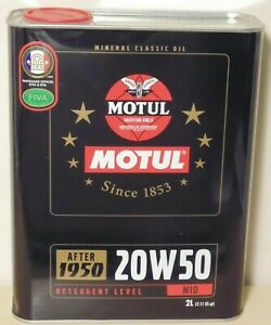 Motul 2100 Classic 20W50 Engine Oil 2L for Toyota Holden Ford Chevrolet Volvo VW