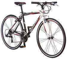 700c Schwinn Men's Volare 1200 Fitness Hybrid Bike, White/Black/Red