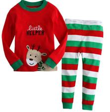 2Pcs Xmas Toddler Kid Baby Boy Girl Tops+Leggings Pants Outfit Christmas Clothes