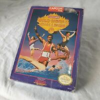 Gold Medal Challenge '92 1992  Nintendo NES Game, Box & Collectors Cover/Case