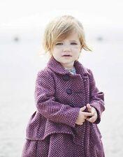 Cappotto viola per bambine dai 2 ai 16 anni