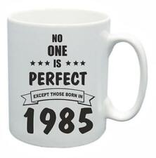33rd Novelty Birthday Gift Present Tea Mug No One Is Perfect 1985 Coffee Cup