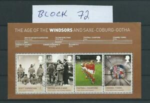 England 2012 Block 72 Haus Windsor miniature sheet gestempelt used