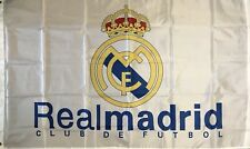 REAL MADRID 3x5 Feet FLAG BANNER, HOME COLORS, Large Size Ships From USA