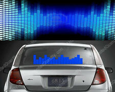 50*16 Music Operated Car Sticker Window Wall Decor EL Panel Sound Light LED Blue