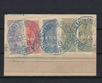 BRASIL 1928 - 29 REVENUE STAMPS CANCELLED ON PIECE   REF 5931