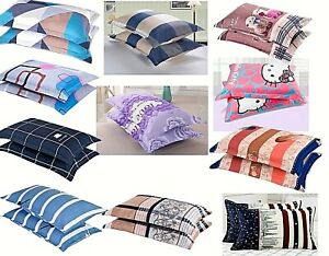 2 pcs premium pillow cases smooth poly cotton extra thick true color fast