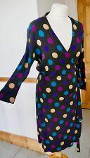 HOBBS Polka Dot Stretch Jersey Wrap Dress Size 14 Ex Con