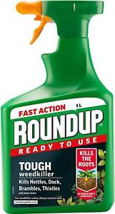 Roundup Tough Weedkiller Ready to Use Spray 1L Kills The Roots