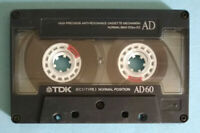 MC Musicassetta TDK AD60 ad 60 vintage compact cassette tape USATA no agfa basf°