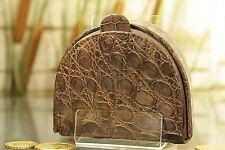 7444a43018f87 Geldbörse Geldbeutel KRALLE Kroko Leder NEU Purse crocodile NEW ü1219