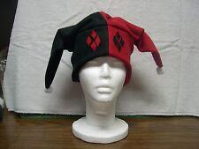 Harley Quinn Ear Rim Fleece Jester Hat NEW