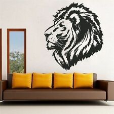 Hot Animal Style Lion Head Decal DIY Wall Sticker Mural Art Room Home Deco