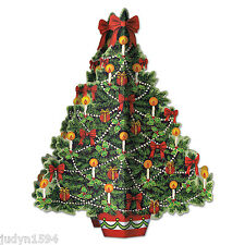 3D CHRISTMAS TREE CENTREPIECE XMAS PARTY TABLE DECORATION PROP CANDLES BAUBLES