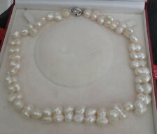 BAROQUE LARGE DOUBLE  PEARL NECKLACE  18""