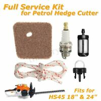 Air Filter Spark Plug Full Service Kit for HS45 Petrol Hedge Cutter Trimmer