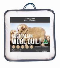 Tontine 375/500 GSM Australian Wool Quilt Doona Duvet All Season & Winter Weight