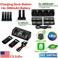 Charger Charging Dock Station + 2800mAh Battery For Wii /Wii U Remote Controller