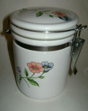 """Villeroy & Boch anno 1748 GERMANY AMAPOLA Container Lid 5 1/2"""" Poppies RARE"""