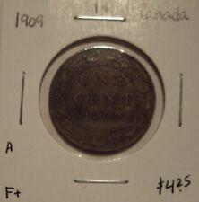 A Canada Edward VII 1909 Large Cent - F+