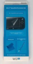 Wii U GamePad Accessory Set Genuine New