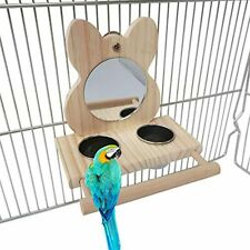 Parrot Feeding CupsBird Stainless Steel Food Water Bowls Dish Parakeet Cage With