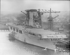 7058 USS Lexington CV-2 Under Construction in 1927 US Navy WWII WW2 Photo USN