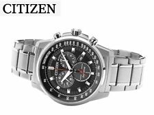 Citizen Eco-Drive Chronograph *AT2370-55E* Stainless Steel Men's Watch RRP-£249