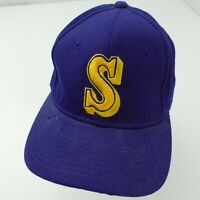 VTG Seattle Mariners Sport Specialties USA Fitted 7 Wool Baseball Ball Cap Hat