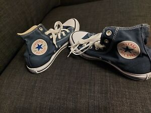 converse chuck taylor high tops. size 5. blue