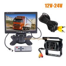 "New listing 7"" Car Lcd Monitor +18 Ir Vehicle Rear View Reversing Camera 4 Bus Truck 12V-24V"