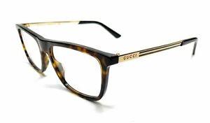 GUCCI GG0691O 002 Havana Men's Authentic Eyeglasses Frame 54 mm