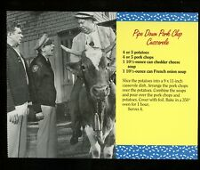 Recipe postcard Aunt Bees Mayberry Cookbook Andy Griffith Pork Chop Casserole