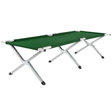 Folding Camping Bed Ourdoor Travel Camp Light Aluminium Steel Legs With Bag Green