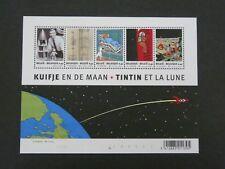 "Rare Tintin Block Sheet Of 5 Stamps 2004 ""Tintin Et La Lune"" Belgium"