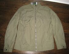 NWT MEN'S TIMBERLAND SURPLUS GREEN KHAKI WINDBREAKER JACKET LINED ZIP - M - NEW