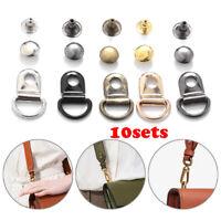 10sets/Lot D Ring Buckle DIY Bag Belt Buckles Handbags Clips Bag Accesseries Hot