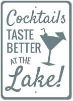 Cocktails Sign, Lake Drinks Sign, Lake Bar Sign, Lake Bar Decor ENSA1002971