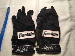 Scott Stahoviak Signed Game Used Batting Gloves Minnesota Twins 90's MLB
